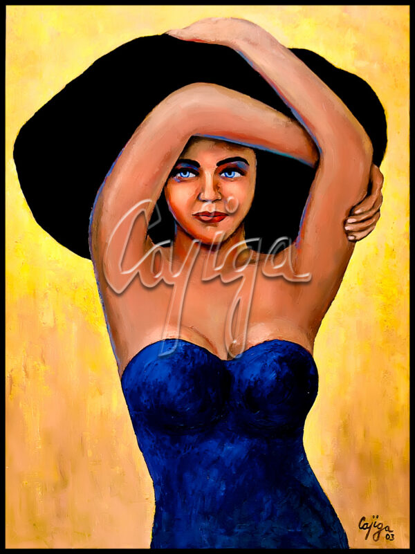 Mujer de Sombrero Negro